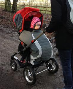 trappelzak voor aangepaste kinderwagen